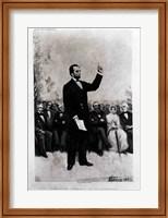 Lincoln's Address at Gettysburg, 1895 Fine Art Print