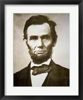 Abraham Lincoln - black and white Fine Art Print