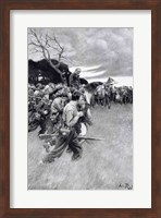 'His army broke up and followed him, weeping and sobbing' Fine Art Print