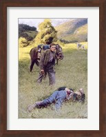 A Lonely Duel in the Middle of a Great Sunny Field Fine Art Print