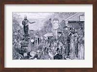 'General Jackson, president-elect, on his way to Washington' Fine Art Print