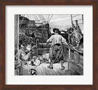 Thomas Moon began to Lay about him with his Sword Fine Art Print