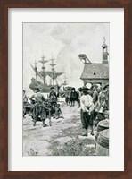 The Landing at Jamestown from a Dutch Man-of-War Fine Art Print