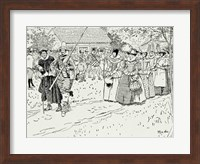 The Arrival of the Young Women at Jamestown Fine Art Print