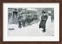 The Puritan Governor Interrupting the Christmas Sports Fine Art Print