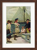 An American Privateer Taking a British Prize Fine Art Print