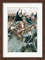 Jackson's Brigade Standing Like a Stone Wall before the Federal Onslaught at Bull Run Fine Art Print