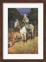 General Lee on his Famous Charger Fine Art Print