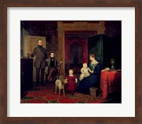 Portrait of the Van Cortland Family, c.1830 Fine Art Print
