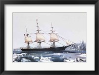 Clipper Ship Red Jacket in the ice off Cape Horn on her passage from Australia to Liverpool Fine Art Print