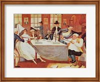 Benjamin Franklin's Experiments With Electricity Fine Art Print