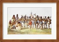 War Dance of the Sauks and Foxes Fine Art Print