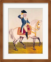 General Washington on a White Charger Fine Art Print