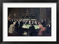 The Gaming Room at the Casino, 1889 Fine Art Print