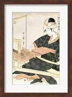 Woman Weaving Fine Art Print