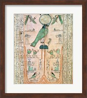 Adoration of the Rising Sun in the Form of the Falcon Re-Horakhty Fine Art Print