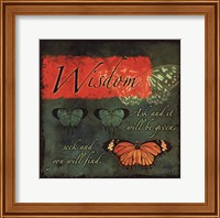 Butterfly Sentiments...Wisdom Fine Art Print
