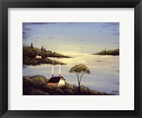Salt Box by the Lake I Fine Art Print