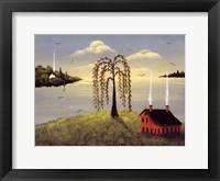 Salt Box by the Lake II Fine Art Print