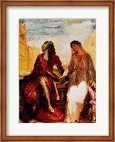 Othello and Desdemona in Venice, 1850 Fine Art Print