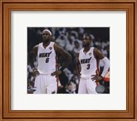 Lebron James & Dwyane Wade Game 2 of the 2011 NBA Finals Action(#10) Fine Art Print