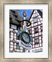 Beer Garden Sign, Franconia, Bavaria, Germany Fine Art Print