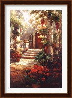 Courtyard Romance Fine Art Print