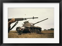 M-14 Rifle M60 Tank Fine Art Print