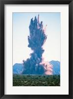 Explosion on land Fine Art Print