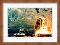 Missile hitting an M47 Tank Fine Art Print