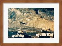 Missile approaching an M47 Tank Fine Art Print