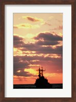 Silhouette of the USS Deyo Fine Art Print