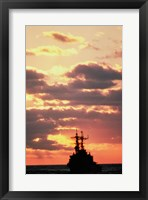 Silhouette of the USS Deyo Fine Art Print