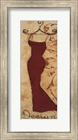 Red Fabric Design II Fine Art Print