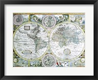 Close-up of a world map, John Speed, 1626 Fine Art Print