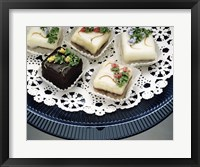 Close-up of assorted cakes on a plate Fine Art Print