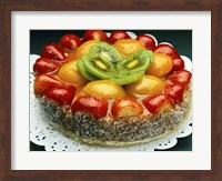 Close-up of a cheesecake Fine Art Print