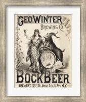 Bock Beer Brewing Company Fine Art Print