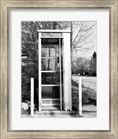 Telephone booth by the road Fine Art Print