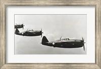 Three fighter planes, P-47 Thunderbolt Fine Art Print