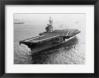 High angle view of an aircraft carrier in the sea, USS Forrestal (CVA-59) Fine Art Print