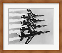 Four fighter planes flying in a formation, Blue Angels, US Navy Precision Flight Team Fine Art Print