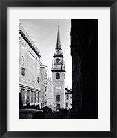 Low angle view of a clock tower, Boston, Massachusetts, USA Fine Art Print