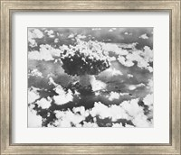High angle view of an atomic bomb explosion, Bikini Atoll, Marshall Islands, July 25, 1946 Fine Art Print