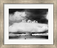 Atomic bomb explosion, Bikini Atoll, Marshall Islands Fine Art Print
