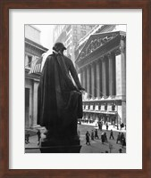 George Washington Statue, New York Stock Exchange, Wall Street, Manhattan, New York City, USA Fine Art Print