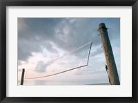 Volleyball net on the beach Fine Art Print