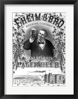 F. Heim and Bros Lager Fine Art Print