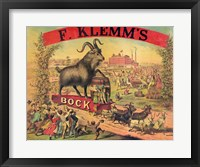 F. Klems Bock Beer Fine Art Print
