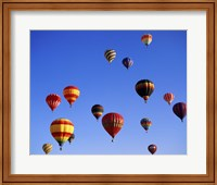 Large Group of Hot Air Balloons Flying Fine Art Print